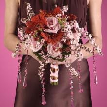 Pink and Brown Bridesmaid Bouquet